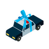 Police car toy icon isometric stock illustration