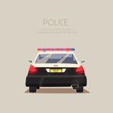Police car. Vector cartoon illustration Royalty Free Stock Photos