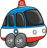 Police Car Vector Illustration Stock Images