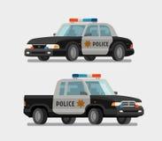 Police car. Vector illustration. Police car, policeman, constabulary cartoon Vector illustration Royalty Free Stock Photo