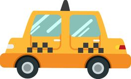 Police car vector on a white background royalty free illustration
