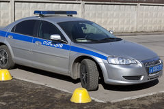 A police car Volga Siber Royalty Free Stock Images