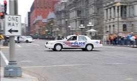 Police Car from Washington DC II. You can see a police car from Washington DC - US Secret Service. USSS is protecting the President and the White House Stock Photos