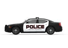 Police Car. On white background. 3D render Royalty Free Stock Photos