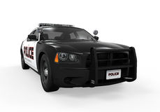 Police Car. On white background. 3D render Stock Image