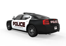 Police Car. On white background. 3D render Stock Photography