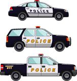 Police car on a white background in a flat style Royalty Free Stock Photos