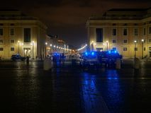 Vatican Saint Peter and police cars Royalty Free Stock Photography