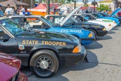 Police cars, Emergency Vehicle Show, Woodward Dream Cruise Stock Photo