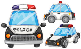 Police cars royalty free illustration