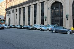 Police cars on line Stock Photo