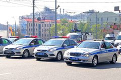 Police cars Royalty Free Stock Photography