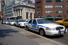 Police cars in New York City Stock Images