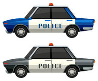 Police cars in two different colors Stock Image