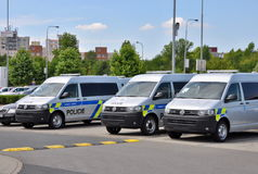 Police cars Volkswagen Multivan Royalty Free Stock Photography