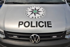 Police cars Volkswagen Multivan Stock Images