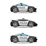 Police cars on a white background. Stock Photography