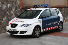 Police in Catalonia Stock Photography