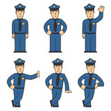 Police character set 01 Royalty Free Stock Photos