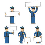 Police character set 02 Stock Photography