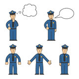 Police character set 04 Royalty Free Stock Photo