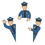 Police character set 06 Stock Photos