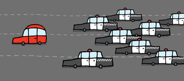 Police chase Royalty Free Stock Photography