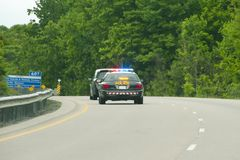 Police Chase. On the Highway Royalty Free Stock Images