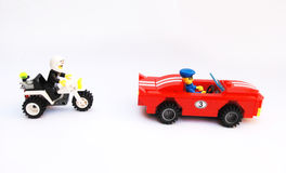The police chasing Royalty Free Stock Photos