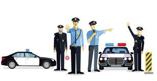 Police check, police use royalty free illustration