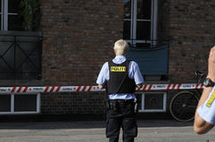 POLICE CHECKING KINIF FIGHT ON AMAGER Stock Photos