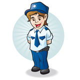 Police child Stock Image