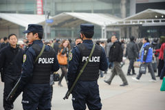 Police chinoise images libres de droits