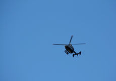 Police Chopper and Blue Sky Royalty Free Stock Image