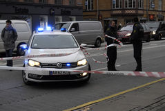 POLICE CLEAR AUTO ACCIDENT Royalty Free Stock Photos
