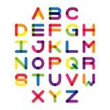 Police colorée et alphabet Lettres d'alphabet de vecteur Image libre de droits