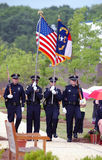 Police color guard. WILMINGTON, NC – May 14 : Members of the Wilmington North Carolina Police Department celebrate police memorial day May 14, 2009 in Royalty Free Stock Photography