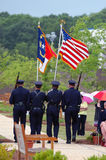 Police color guard. WILMINGTON, NC – May 14 : Members of the Wilmington North Carolina Police Department celebrate police memorial day May 14, 2009 in Royalty Free Stock Photo
