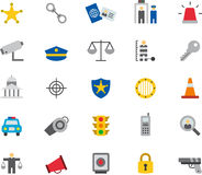 POLICE colored flat icons Royalty Free Stock Photography
