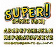 Police comique créative Alphabet de vecteur dans l'art de bruit de style Illustration de Vecteur