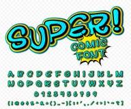 Police comique créative Alphabet de vecteur dans l'art de bruit de style Photo stock
