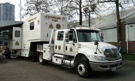 Police Command Post Royalty Free Stock Image
