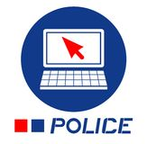 Police computer Stock Photos