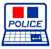 Police computer Stock Image