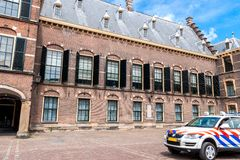 Police control in the Binnenhof in The Hague Royalty Free Stock Photography