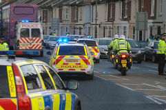 Police convoy Royalty Free Stock Photography