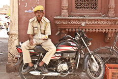 A police cop in Jodhpur, Rajasthan Royalty Free Stock Photos