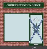 Police cordon. At the crime prevention office break in Royalty Free Illustration