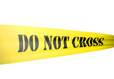 Police cordon line or similar for crime scene Stock Image