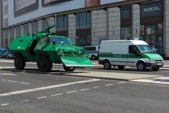 Police cordon near the Potsdamer Platz Royalty Free Stock Photography